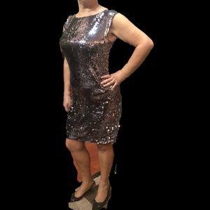 Sequin Embellishments throughout Cocteil Dress